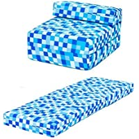 Blue Pixels Design Single Foam Fold Out Z Bed Chair Guest Mattress Sleepover