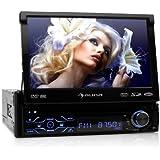 auna MVD 180 MK II autoradio multimedia (avec bluetooth, ecran retractable 18cm, lecteur DVD, port USB et SD compatible MP3, tuner FM, kit mains libres et télécommande)