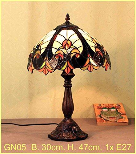 Graf von Gerlitzen Tiffany Stand Tisch Lampe Tischlampe Tiffanylampe GN05