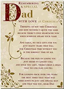 Grave Card - Remembering A Special Dad With Love At Christmas - Free Card Holder - C110
