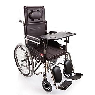 51Jt8HxtCiL. SS324  - M-CH silla de ruedas Tipo plegable de la mitad-mentira, con los pies ortopédicos, con la cómoda Sillas de ruedas eléctricas