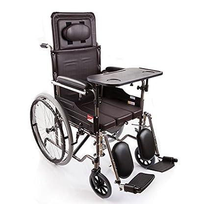 51Jt8HxtCiL. SS416  - M-CH silla de ruedas Tipo plegable de la mitad-mentira, con los pies ortopédicos, con la cómoda Sillas de ruedas eléctricas