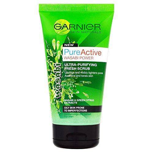 L'Oreal Garnier Pure Active Wasabi Power - Scrub purificante, 150 ml