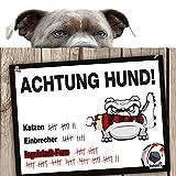 Hunde-Warnschild Schutz vor Ingolstadt-Fans | FCA-, FC Heidenheim- & Alle Fußball-Fans, Dieser Revier-Markierer schützt Haus & Hof vor Ingolstadt-Fans | Spaßgarantie | Achtung Vorsicht Hund Bissig |