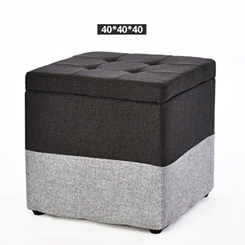 Acacia Tee (MNII Kreativ Holz Stoff Wechselnde Schuhe Hocker Aufbewahrungshocker Schemel Sofa Hocker Tee Tischhocker Quadratischer Hocker Haushalt Wohnzimmer , b3- Schöne Möbel)