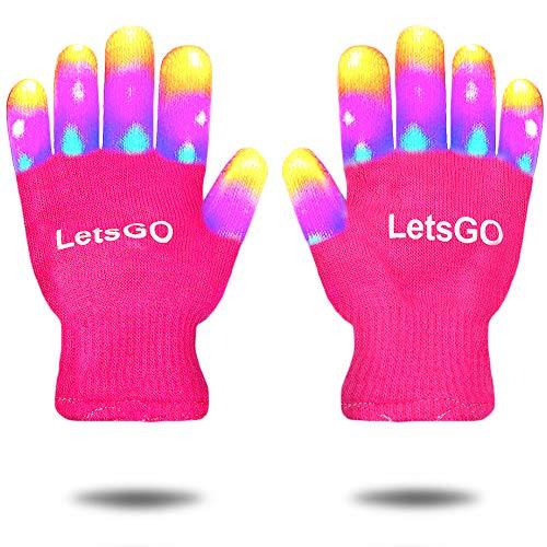 EUTOYZ Cool Beste Oben Spaß Tolles Spielzeug für Mädchen ab 6-10 LED blinkendes Kostüm Ankleiden Finger leuchten Handschuhe für Kinder Gastgeschenke Geburtstags Geschenke für 3-12 ab Mädchen