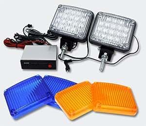 Lampe flash stroboscopique POWER-LED couleur transparente, orange, bleue