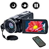 Videokamera Camcorder Full HD 1080p Kamera 24.0MP Digitalkamera Nachtsicht Vogging Kamera 18X Digitaler Zoom mit Fernbedienung