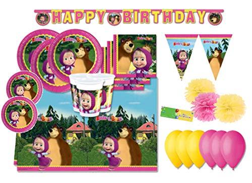 DECORATA PARTY Kit N 66 ADDOBBI Festa Compleanno Masha E Orso