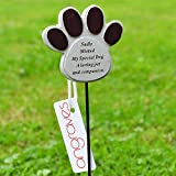 Special Dog Paw Print Memorial Pet Memory Tribute Stick