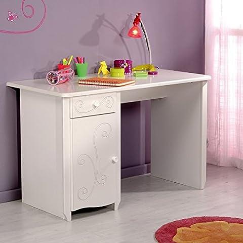 Schreibtisch weiß MDF Holz PC Computertisch Kinderschreibtisch Mädchenschreibtisch Kinderzimmer