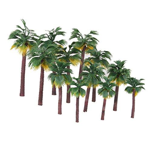 Preisvergleich Produktbild 12pcs 1:65-1:150 Eisenbahn Zugmodell Palm Bäume Modelleisenbahn