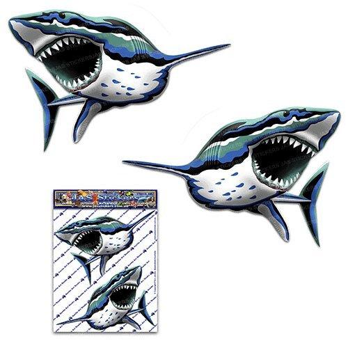 Haifisch Fisch Meer Tier Abziehbild Autoaufkleber für Auto-LKW Wohnwagen - ST00059_SML - JAS (Tiere Beängstigend)