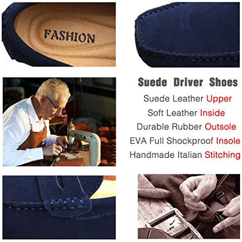 Yaer Mocassins Cuir Suedé Classic Homme Chaussure Noir