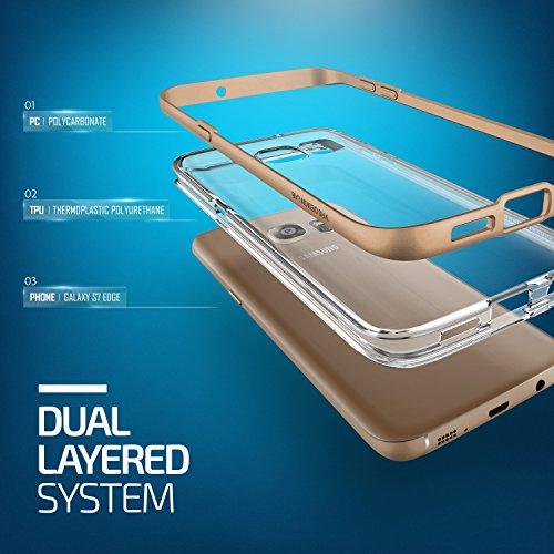 Étui iPhone 5 / 5s / SE, VRS Design Crystal Bumper Coque Apple iPhone 5 / 5s / SE [Dual Layer TPU -PC] Housse Antichoc Shine Or Cover Case