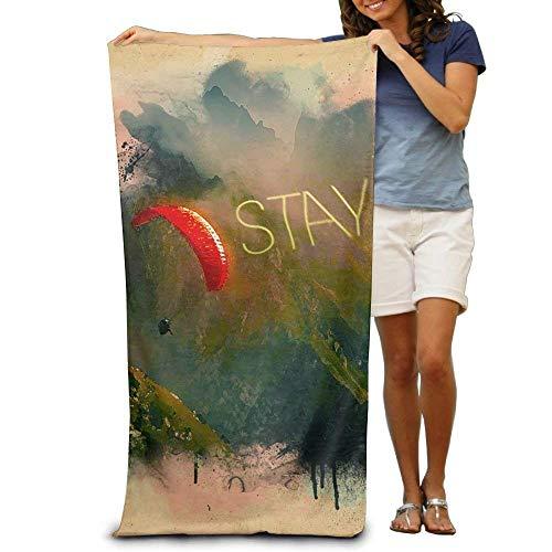 (Fedso Super saugfähiges Strandhandtuch aus Fallschirm, Polyester/Samt, 79 x 130 cm)