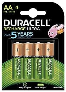 Duracell Recharge Ultra AA Batterien, 4er Pack