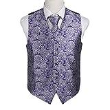 EGD1B08E-XL grigio Patterns microfibra dello smoking del vestito della maglia Cravatta Set Forse Accessori da Epoint