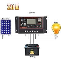 10A Solar regulador de carga Controlador Inteligente LCD Display thunder-proof impermeable Dropproof lámpara de calle 12/24V controlador Solar tres proofings Micro USB 5V 2A