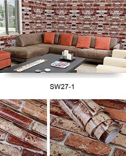 Preisvergleich Produktbild ZCHENG 3D Wandpapierrollen Ziegelstein Rustikaler Effekt selbstklebende Tapeten Wohnzimmer Wasserdichte Wohnkultur Möbel Renovierung,  SW27-1