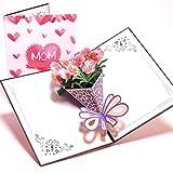 3D Pop Up Ich liebe Mama Grußkarten Geburtstag Weihnachten Muttertag Geschenk
