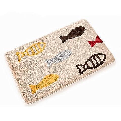 Soft Anti Slip Rectangle Rug Mat, Stillshine Fashion Elegant Non Slip Washable Home Carpet Rugs For Bedroom Bathroom Living Room Kitchen Wood Floor Area Door Mats (15.7 x 23.7 inch, Fishs)