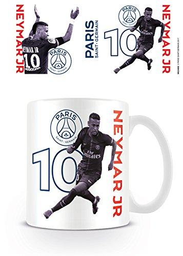 PSG Paris Saint-Germain Neymar Jr Coffee Mug Kaffeetassen, Keramik, Mehrfarbig, 7.9 x 11 x 9.3 cm
