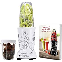 Wonderchef 400 Watt Nutri-Blend with Free Servin Glass Set (White)