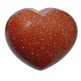 Goldfluss Herz schöne bauchige Form ca. 45x40x25 mm als Handschmeichler