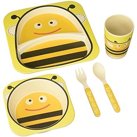 Bamboo Fiber Kids Plate Set-Bumble Bee