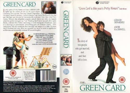 green-card-vhs-import-anglais