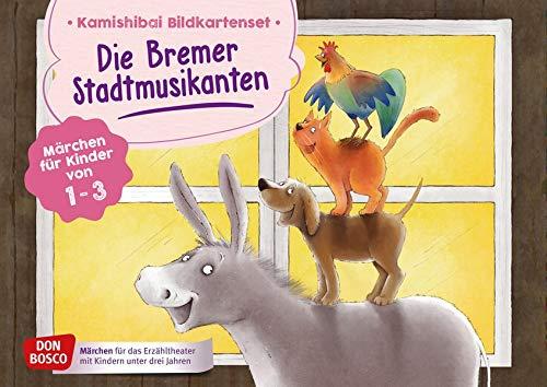 Die Bremer Stadtmusikanten. Kamishibai Bildkartenset.: Märchen für Kinder von 1–3