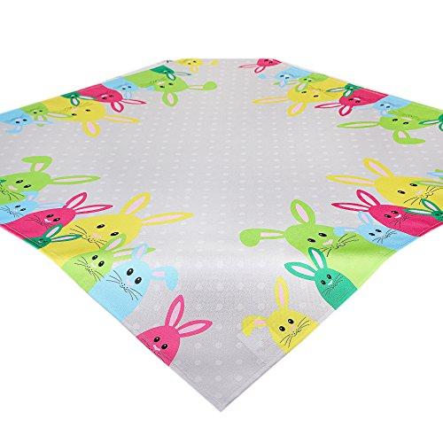 Nappe de table PÂQUES COLORÉS / gris / carré / 85x85 cm