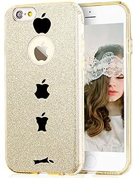 Qissy® Cover iPhone SE 5 5S la copertura di scintillio TPU copertura Glitter Paper PP moda