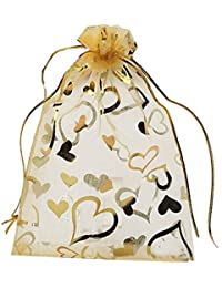 Dms Retail Return Gift Bags Organza Bags Return Gift Favours Shagun Favours Shagun Pouch Bags Wedding Party Favor Jewellery Packing Pouch Dry Fruit Pouch Shagun Potli Bag 16x15 Cms Mix Colors (Pack Of 40)