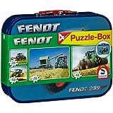 Schmidt Spiele 55589 - Fendt, Puzzle-Box 2 x 26, 2 x 48 Teile im Metallkoffer