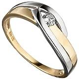 Ring Damen 8 Karat (333) Gelbgold teilrhodiniert Zirkonia 1 60 (19.1)