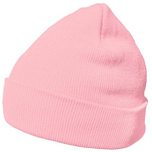 DonDon Wintermütze Mütze warm klassisches Design modern und weich rosa
