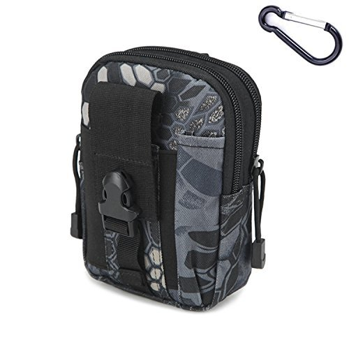 Mcdobexy Wasserdichte Militär Taktische Molle EDC Telefon Tasche Taille Pack Utility Gadget Gürtel Taille Tasche mit extra Metall Karabiner BlackPython