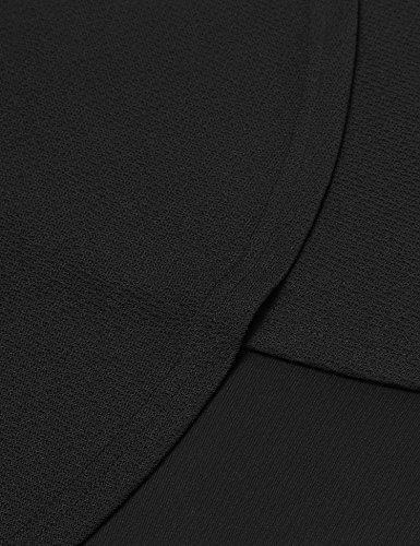 ZEARO Damen Herbst und Winter Rundhalsausschnitt und Lange Abschnitte Dünnes Kleid sexy und Elegantes Design (Arbeit, Aufnahme, Partei) Schwarzes
