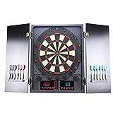 HENGMEI Tablero de Dardos Eléctrico Diana Electrónica Deportes con Juego Monitor LCD (Modelo C)