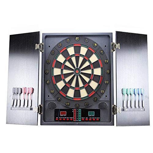HENGMEI Elektronische Dartscheibe Dartona Dartspiel Dartautomat Dartboard mit 12 Dartpfeilen, 27 Spielen und 202 Varianten (Modell C)