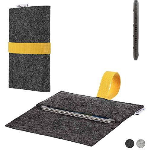 flat.design Handy Hülle Aveiro für Cyrus CS 35 passgenaue Filz Tasche Case Sleeve Made in Germany