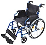 Aidapt Blue Deluxe Lightweight Self Propelled Aluminium Wheelchair