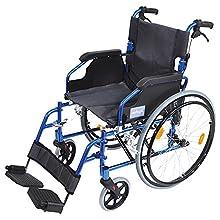 Aidapt Blue Deluxe Lightweight Self Propelled Aluminium Wheelchair (Eligible for VAT relief in the UK)