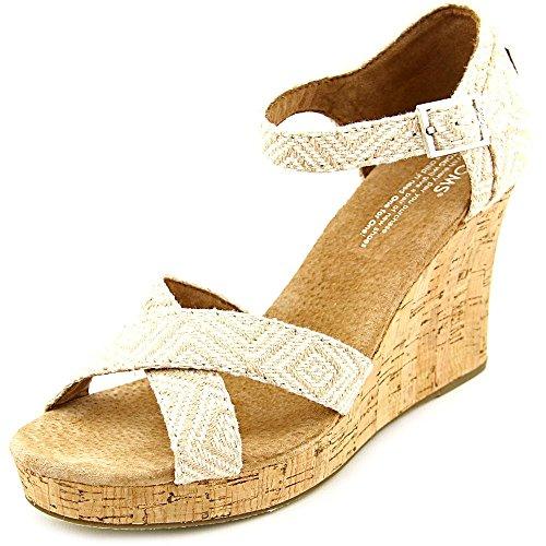 amen US 8.5 Beige Keilabsätze Sandale (Toms Wedges Beige)