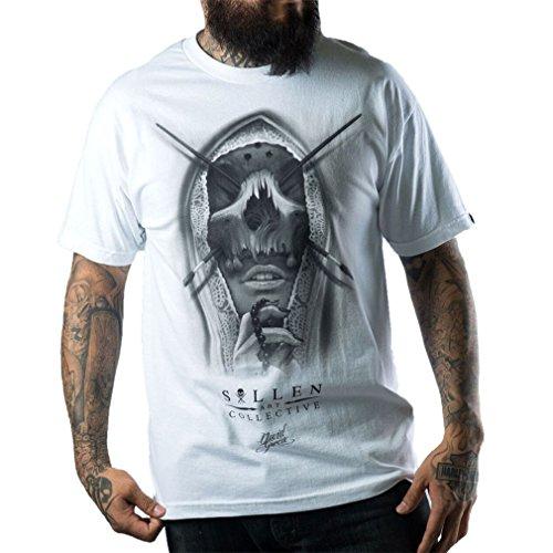 Sullen Clothing Herren T-Shirt - Sullen Mask Weiß Weiß