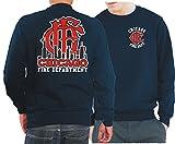 Felpa navy, Chicago Fire Dept.- SKYLINE con altem Emblem CFD, blu navy, L