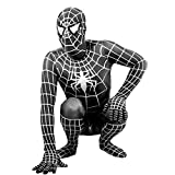 WEGCJU Traje Negro De Spider-Man Fancy Dress Party Jumpsuit Cosplay Medias para Adultos Disfraz De Deformación De Halloween Party Props Juguetes para Niños,Black-120-140cm