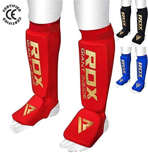 RDX Boxen MMA Schienbeinschutz Kampfsport Kickboxen Schienbein Schienbeinschoner Beinschützer(CE Bescheinigt Genehmigt Durch SATRA)